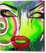 Eyes That Could Kill Canvas Print