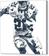 Ezekiel Elliott Dallas Cowboys Pixel Art 3 Canvas Print