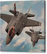 F-35's On Assignment  Canvas Print