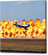 F-86 Wall Of Fire Canvas Print