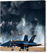 F/a -18 Super Hornet, U S Navy Blue Angeles Canvas Print