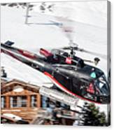 F-gsdg Eurocopter As350 Helicopter Courchevel Canvas Print