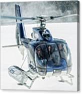 F-hana Eurocopter Ec-130 Helicopter Landing Canvas Print