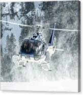 F-hana Eurocopter Ec-130 Landing Helicopter At Courchevel Canvas Print