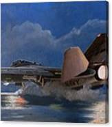 F14 Carrier Launch Canvas Print