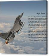 F16 - High Flight Canvas Print