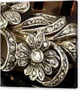 Faberge Diamond Hair Comb Detail Canvas Print