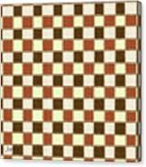 Fabric Design Mushroom Checkerboard Abstract #2 Canvas Print