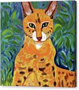 fabulous cat portrait in the style of Van Gogh's Canvas Print