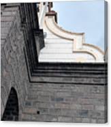 Facade Of La Matriz Church Canvas Print