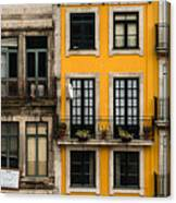 Facades Of Porto Canvas Print