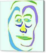 Face 5 On Light Blue Canvas Print
