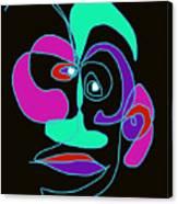 Face 7 On Black Canvas Print