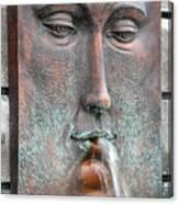 Face Fountain - Riviera Maya Mexico Canvas Print