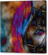Face Of A Girl Canvas Print