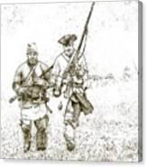 Face Of Danger Soldier Sketch Canvas Print