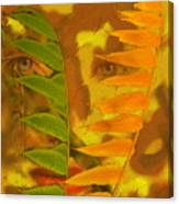 Face Of Fall Canvas Print