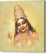 Face Of The Goddess - Lalitha Devi - Without Frame Canvas Print