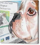 Facebook Dog Canvas Print