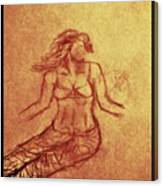 Faceless Mermaid Canvas Print