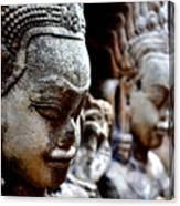 Faces Of Angkor Canvas Print