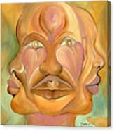 Faces Of Copulation Canvas Print