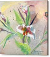 Faded Lilies Canvas Print