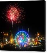 Fair Fireworks Canvas Print