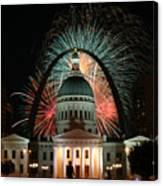 Fair St Louis Fireworks Canvas Print