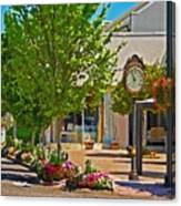 Fairhope Ave With Clock Looking North Up Section Street Canvas Print