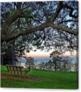 Fairhope Swing On The Bay Canvas Print