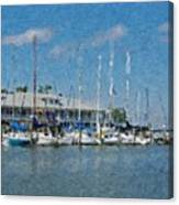 Fairhope Yacht Club Impression Canvas Print