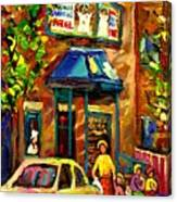 Fairmount Bagel In Montreal Canvas Print