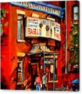 Fairmount Bagel Montreal Canvas Print