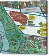 Fairmount Neighborhood Map Canvas Print