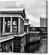 Fairmount Water Works In Black And White Canvas Print