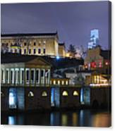 Fairmount Waterworks And Art Museum At Night Canvas Print