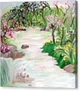 Fairy Blossom Falls Canvas Print