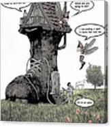 Fairy Comic Illustration 1 Canvas Print