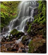 Fairy Falls In Columbia Gorge Canvas Print
