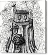 Fairy House Stump With Penthouse Canvas Print