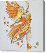Fall Fairy Canvas Print