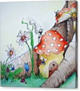 Fairy Mushrooms Canvas Print