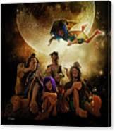 Fairy Night Chat Canvas Print