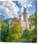 Fairytales From Neuschwanstein Castle Canvas Print