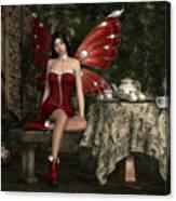 Fairy Tea Time Canvas Print