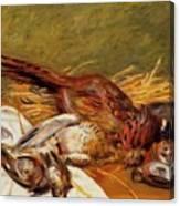 Faisans Canapetiere Et Grives 1902 Canvas Print