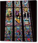 Faith In Stained Glass  Canvas Print
