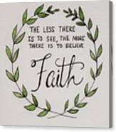 Faith Laurel Wreath Canvas Print