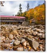 Fall At Albany Covered Bridge Canvas Print